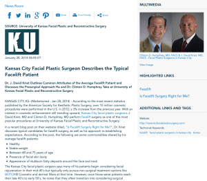 facial plastic surgeon in kansas city, facelift, botox